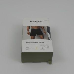 Goodfellow & Co 3 Premium Knit Boxers Size SM